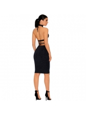 Hot Sale Bandage Solid Sexy Two Pieces Outfits