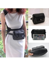 Easy Matching 2 Pockets Square Waist Bag