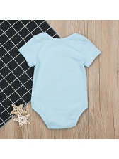 Fashion Printed Round Neck Baby Rompers