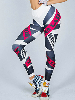 Fashion Printing Sporty Yoga Bottoms