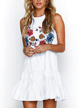 Hot Selling Floral Sleeveless Dresses