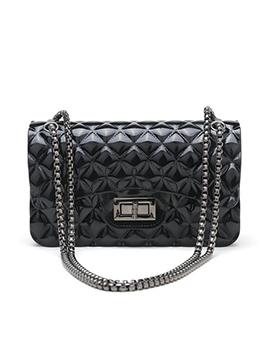 Trendy Geometric Print Jelly Chain Shoulder Bags