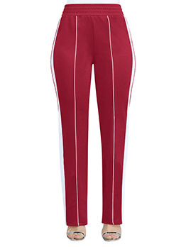 Fashion Multicolored Fitted Straight Pants