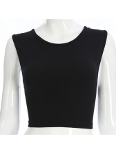 Sexy Backless Tie-wrap Cropped Top