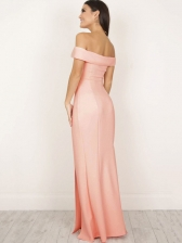 Sexy Off Shoulder Slit Bodycon Dresses