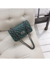 Trendy Geometric Print Jelly Chain Shoulder Bags