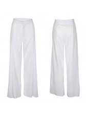 Cozy High Waist Solid Color Long Pants