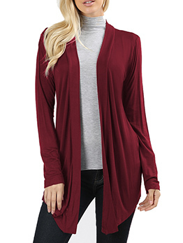 Euro Fashion Solid Color Cardigan