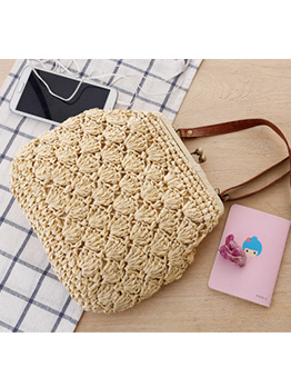 Chic Beach Style Solid Straw Bags