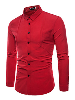 Gentle Single-breasted Long Sleeve Shirts