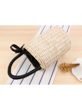 Fashion Solid Straw Bags For Vacation