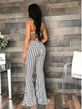Sexy Backless Striped Jumpsuits For Women