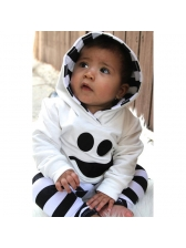Fashion Hooded Neck Striped Baby Boys Sets