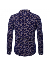 Hot Sale Casual Paisley Fitted Mens Shirt