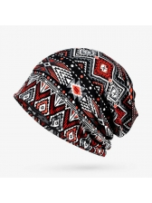 Outdoors Geometric Printing Warm Hats