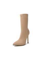 Modern Pointed Stiletto Mid Calf Boots