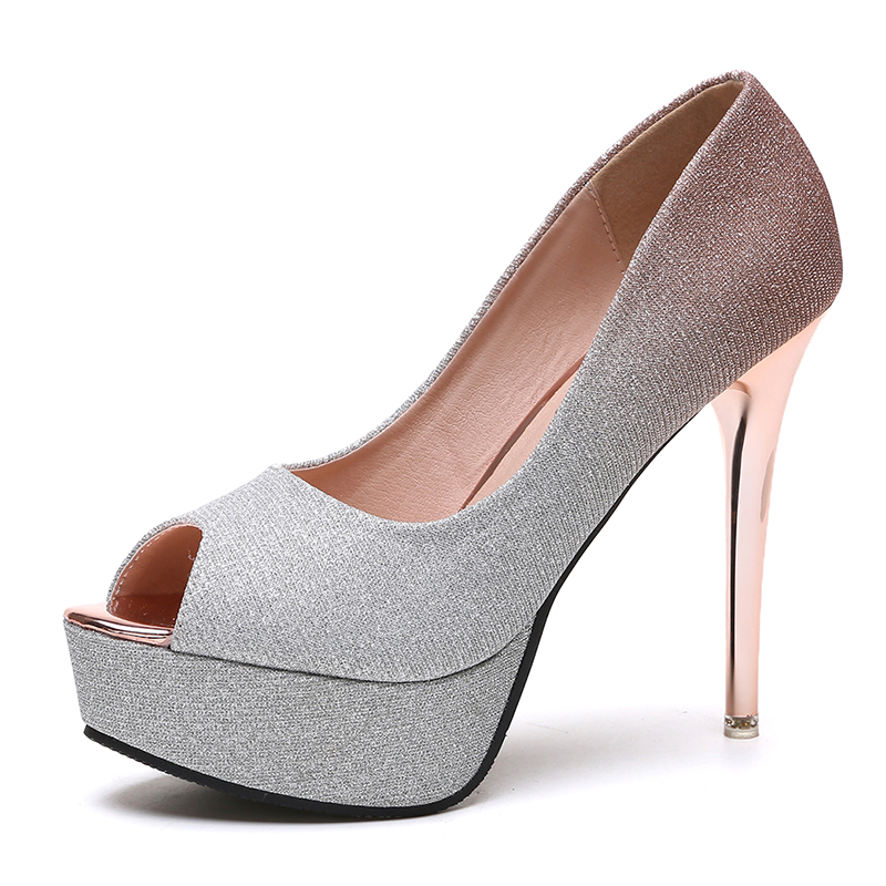 Korean Design Gradient Color High Heel Pumps