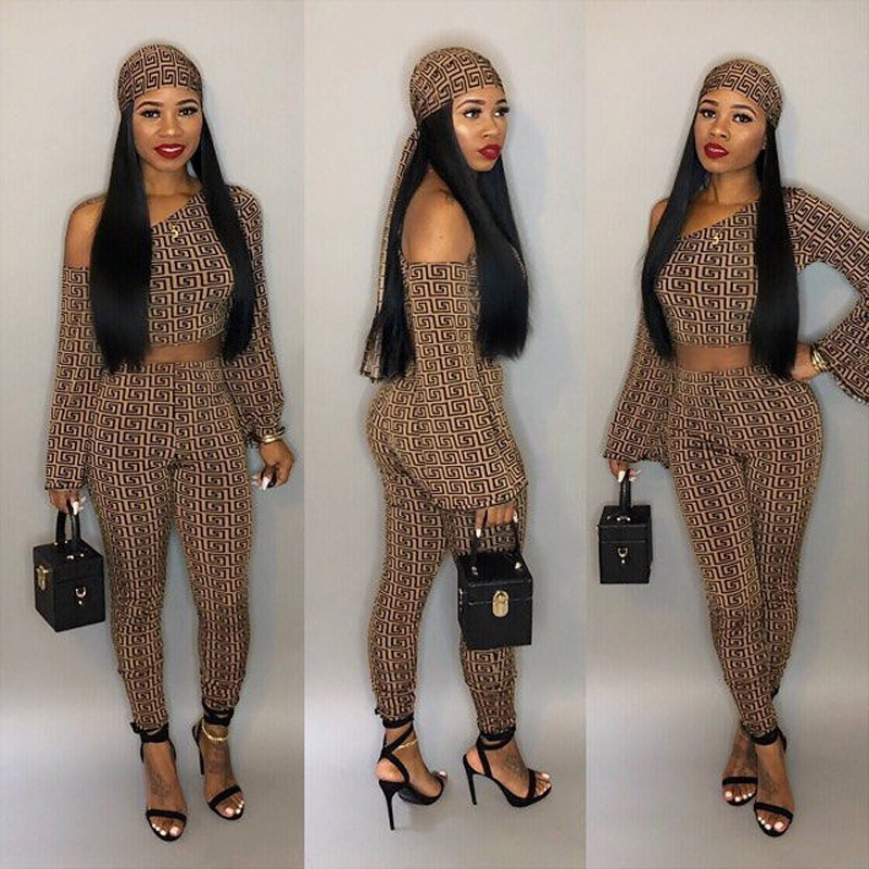 Euro Inclined Shoulder Printed 3 Piece Sets