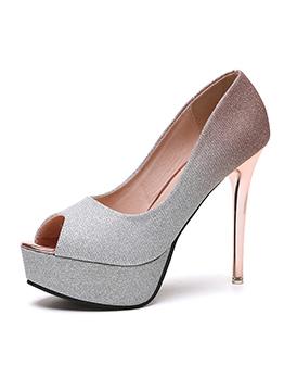 Korean Design Gradient Color High Heel Pumps