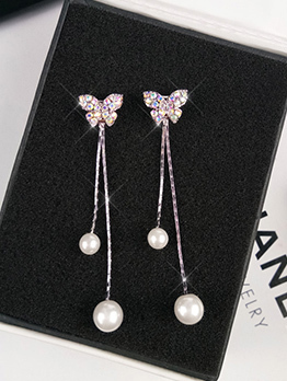 Easy Matching Pearl Butterfly Shape Eardrop
