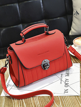 Fresh Korean Design Square Solid Handbags