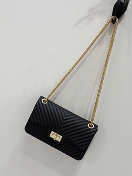 Candy Color Threaded Chain Crossbody Bags