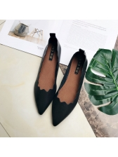 Simple Design Soft Sole Pointed Cozy Flats
