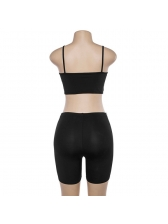 Hot Sale Solid High Waist Two Pieces Outfits