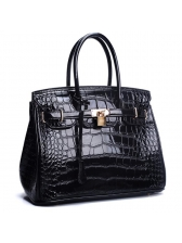 Euro Modern OL Style Patent Leather Hand Bags