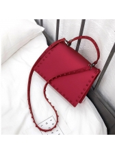 Fashion Rivet PVC Hasp Shoulder Bags
