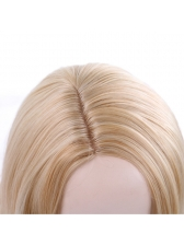 Fashion Side Parting Long Wave High Temperature Fiber Synthetic Wigs