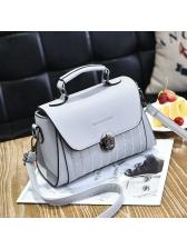 Fresh Korean Design Square Solid Handbags
