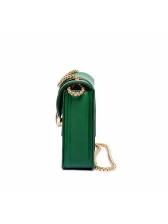 Fashion Contrast Color Hasp Chain Crossbody Bags