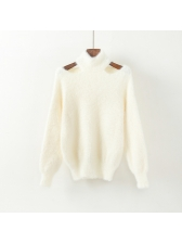 Casual Fluffy Hollow Out Loose Sweaters