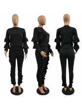 Euro Agaric Laces Solid Casual Women Outfits