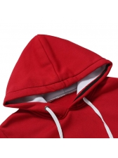Casual Winter Contrast Color Hoodies For Men