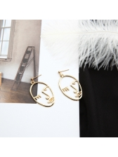Creative Face Hollow Out Earrings For Women