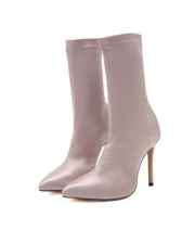 Euro Pure Color High Heel Boots For Women
