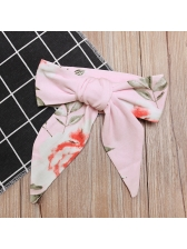 Casual Letter Flowers Rompers 3 Pieces Children Sets
