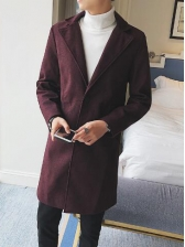 Lapel Two Buttons Fitted Mens Coat