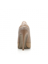 Minimalist Patchwork Pointed Toe High Heel Shoes