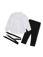 Fashion Single-breasted Shirts 3 Pieces Baby Boy Outfits