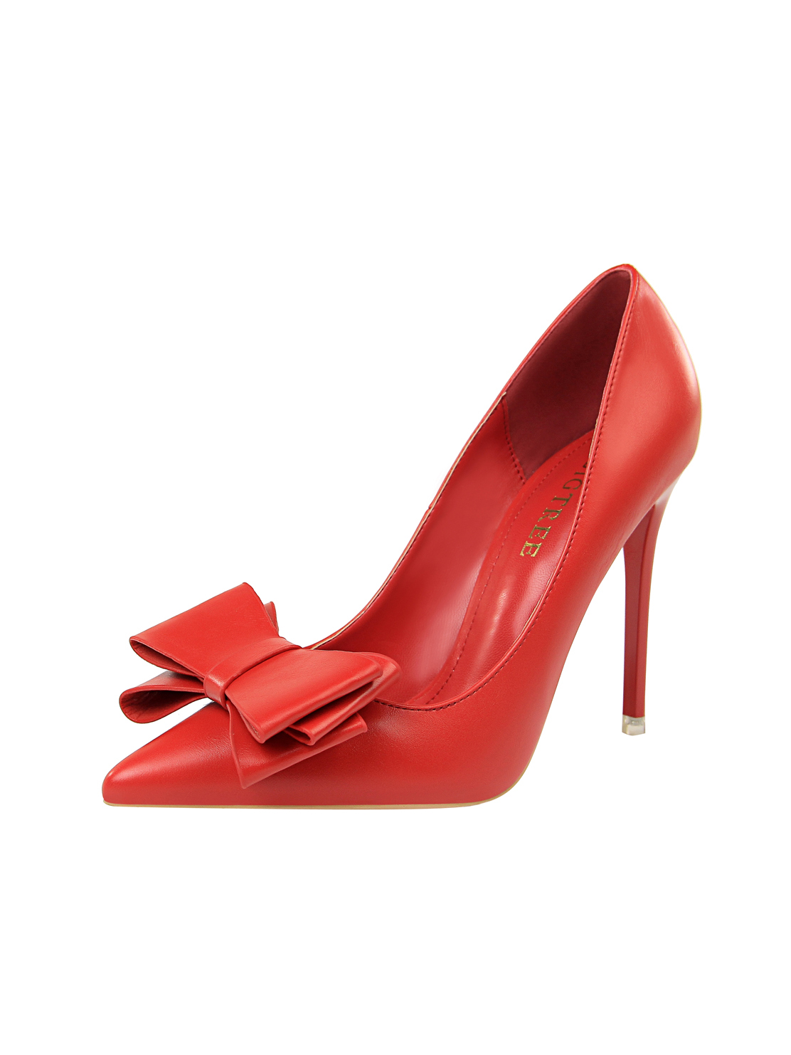 Simple Design Bow Pointed Thin Heel Women Pumps