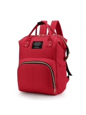 Fashion Contrast Color Waterproof Canvas Backpack