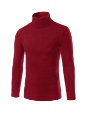 New Arrival Solid Fitted Turtle Neck Men Sweater