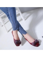 Fashionable Bow Large Size Comfortable Flats
