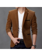Hot Sale Solid Fitted One Button Men Blazer