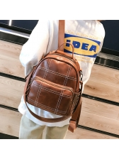 New Arrival Plaid Casual Solid Backpacks For Women