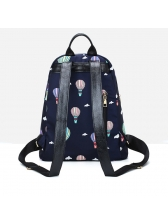Easy Matching Printed Fashion Casual Oxford Backpack