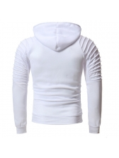 Solid Fitted Long Sleeves Personality Casual Men Hoodies